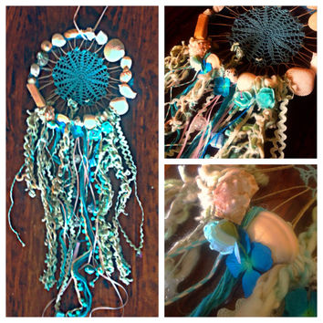 Dreaming of the sea dreamcatcher with a beach theme