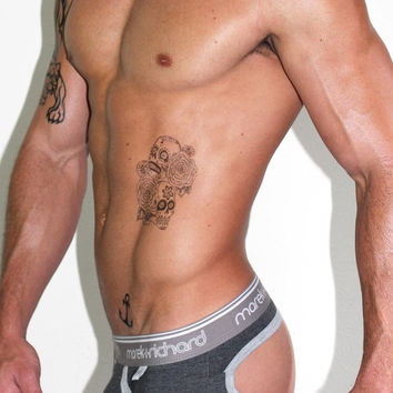 Core Open Back Brief-Dark Charcoal
