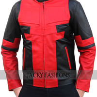 Ryan Reynolds Red and Black Deadpool Jacket - Available in All Sizes + Free Gift