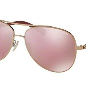 Coach Women's HC7072B Sunglasses Rose Gold/Aubergine / Pink Solid Mirror 59mm