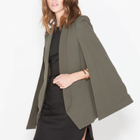 Save Me Textured Cape Blazer