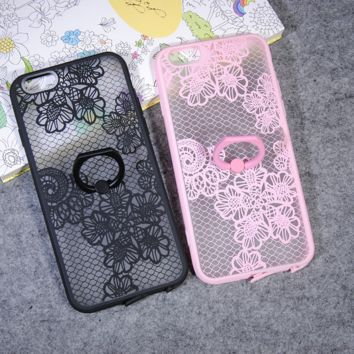Fashion lace flower style 2 mobile phone case for iphone 5 5s SE 6 6s 6Plus 6S Plus+ Nice gift box!