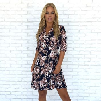 Bloom Me Away Floral Skater Dress