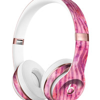 Pink Watercolor Zebra Pattern Full-Body Skin Kit for the Beats by Dre Solo 3 Wireless Headphones
