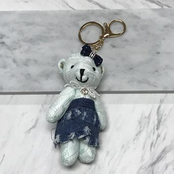 Lace Bear Keychain