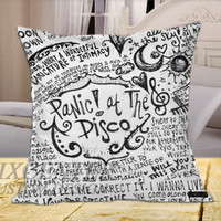 Panic at The Disco Lyric  on Square Pillow Cover