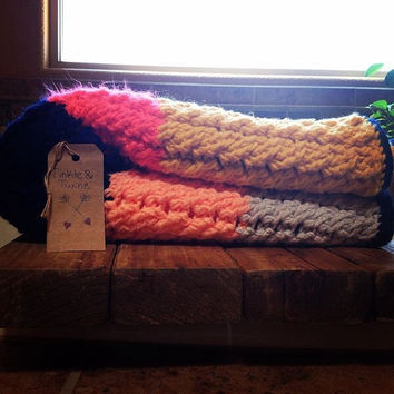 Cables & Stripes baby blanket