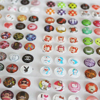 Whole Sale 330pcs/Lot Mobile Phone Cartton Rubber Home Button Sticker For iPhone 4 5 6 6s plus Home Button Protector Sticker
