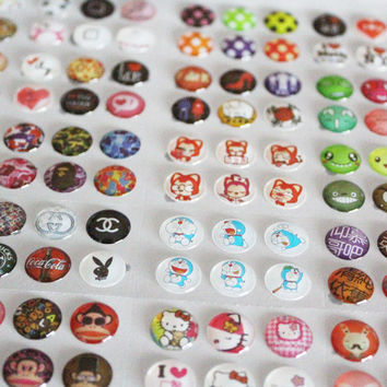 Whole Sale 330pcs Lot Mobile Phone Cartton Rubber Home Button Sticker For iPhone 4 5 6 6s plus Home Button Protector Sticker