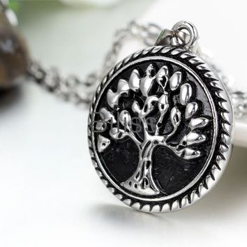 SHIPS FROM USA New Tree of Life Pendant Necklace Vintage Bronze Painting Men Women Necklaces Gift Summer Jewelry Necklace 2017