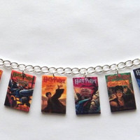 Harry Potter Book  bracelet Charm Bracelet  Voldemort Deathly Hallows Hogwarts