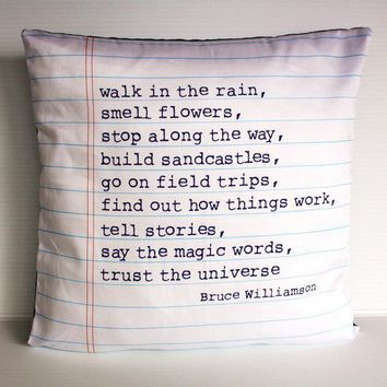 POEM cushion Organic cotton poem cushion by mybeardedpigeon