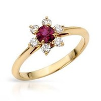 TIFFANY & CO. Ladies Ruby Ring Designed In 18K Yellow Gold - Tiffany & Co. - Modnique.com