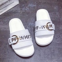 OFF-White Women Fashion Slipper Flats Shoes