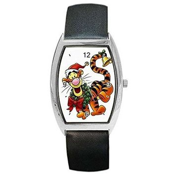 Christmas Tigger (Winnie the Pooh) w/ Wreath on a Womens or Girl Barrel Watch...