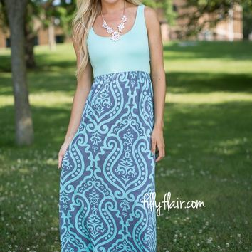 Time of My Life Maxi Dress in Mint