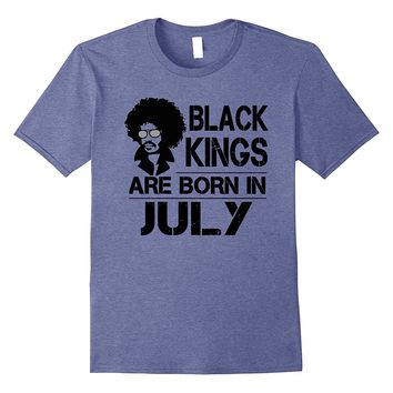 Men's Black Kings Are Born In July Shirt