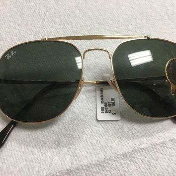 MDIGOK9 Brand New Ray Ban Aviator Sunglasses In Gold Frame / Green Lenses $160 Retail!