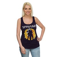 Doctor Who Goodbye Ladies' Racerback Tank Top