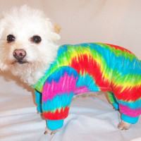 RockinDogs Tie Dye Fleece Pajamas for Dogs