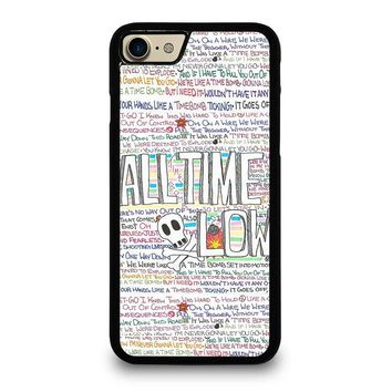 ALL TIME LOW WRITTING iPhone 7 Case Cover