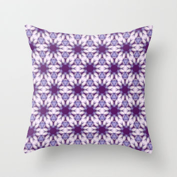 knitted pattern Throw Pillow by clemm