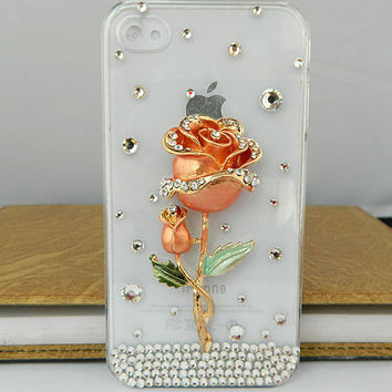 rose case loves iphone case  iPhone case iPhone 4 case iPhone 4s case iPhone cover Multiple color choices