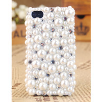iPhone4S/4/3GS Pearls and Crystals Girly Pretty Cover - GULLEITRUSTMART.COM