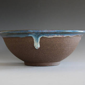 Pottery Bowl, Handmade Ceramic Bowl, hand thrown stoneware bowl, ceramic serving bowl