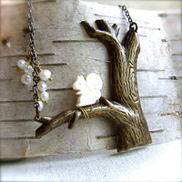 Mother of Pearl Squirrel White Freshwater Pearl  by balanced
