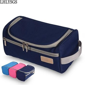 LHLYSGS Brand Waterproof Men And Women Portable Cosmetic Bags Large Storage Organizer Bag Hanging Wash Toiletry Make up Bag