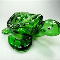 Turtle Glass Pipes - Teal Helix Animal Octopus Glass Pipe
