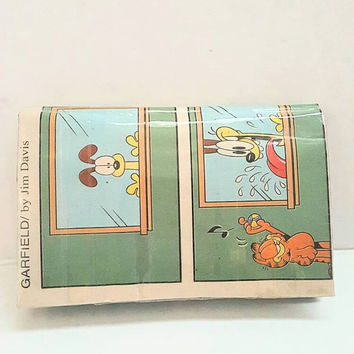 Garfield and Odie Coin Purse - Upcycled Newspaper Pouch