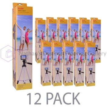 (12-Pack) 50 Kodak TR501 Superior Control Tripod w/3-Way Fluid Pan Head & Bubble Level Indicator (Black)