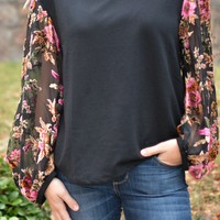 Midnight Garden Top