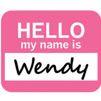 Wendy Hello My Name Is Mouse Pad