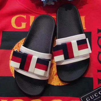 Gucci Woman Fashion Print Slipper Sandals Shoes