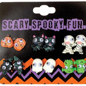 Earrings Studs W-googly Eye prop accessories Halloween 2017