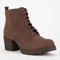 Soda Nevitt Womens Military Boots Brown  In Sizes
