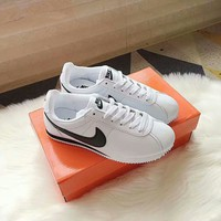 """Nike Cortez"" Unisex Classic Casual Fashion Leather Running Shoes Couple Retro Sneakers"