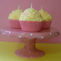 Cupcake Candle Pink Lemonade Scented Soy Wax by Pookaberrys