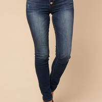 Signature High Rise Kancan Jeans (Dark Wash)