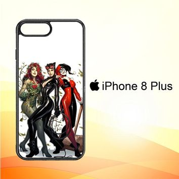 Poison Ivy Harley Quinn,Batgirl And Catwoman  Z0225 iPhone 8 Plus Case