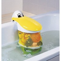 KidsKit Bath Toy Organizer | Bath Toy Holder Featuring A Pelican With A Bath Toy Storage Net For Bath Toys