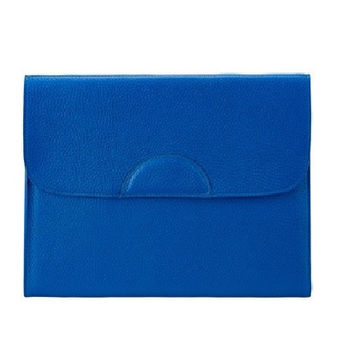 Portfolio Case Scotch Grain Pebble Leather | Cobalt