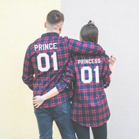 Prince 01 Princess 01 Plaid Shirts, Matching Plaid Shirts