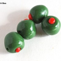 Martini Olive Beads Novelty Cocktail Green Jewelry Making Supplies
