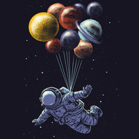Space travel Art Print by Carbine