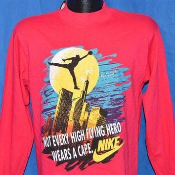 DCCKHD9 90s Nike Air Jordan Batman Superhero Chicago Bulls Long Sleeve Deadstock t-shirt Youth