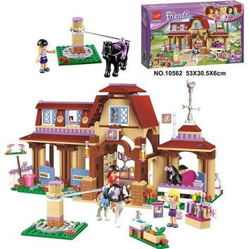 Bela 10562 Friends Series Heartlake Riding Club Model Building Block Bricks Toy For Children Compatible With Legoe Friends 41126